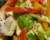 Sake Marinated Shrimp with Cucumber & Mango Salad